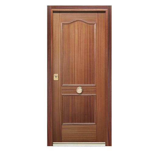 Puerta de entrada acorazada 300 provenzal derecha sapelly/blanco de 90.3x208 cm