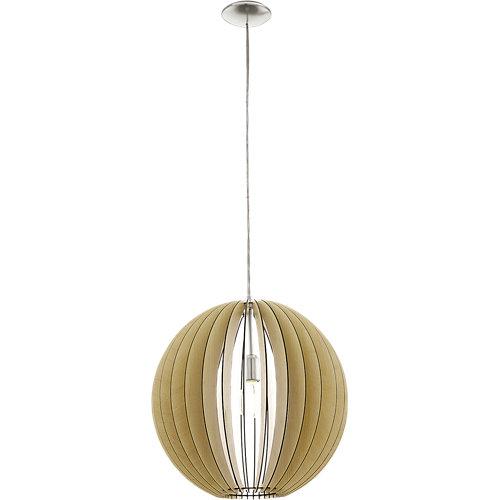 Lámpara de techo cossano beige 1 luz
