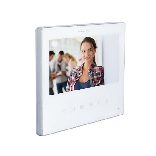 """Monitor adicional de 7"""" para videoportero chacon slim blanco"""
