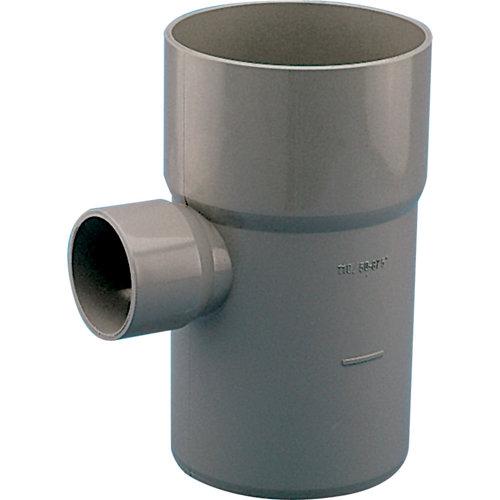 Injerto para bajante de 87,5° gris ø 110-50 mm