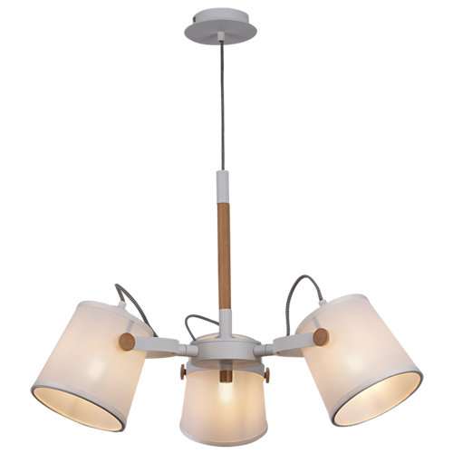 Lámpara de techo nordica blanca 3 luces