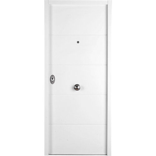 Puerta de entrada acorazada serie v lucerna blanca derecha de 89x206 cm