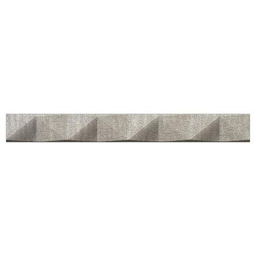Cenefa tessile 3,5x30 gris artens