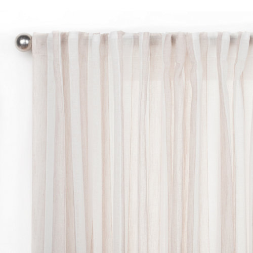 Visillo arcadia con motivo liso beige de 280 x 300 cm