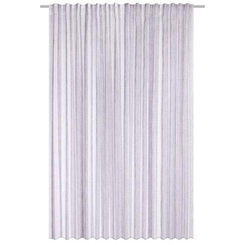 Cortina arcadia con motivo liso gris de 280 x 300 cm