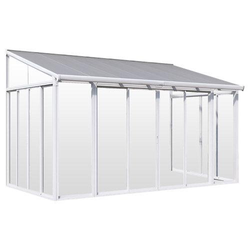 Pérgola de aluminio san remo blanco de 300x300 cm con vidriado