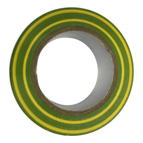 Cinta aislante amarillo/verde de 19mm 10m