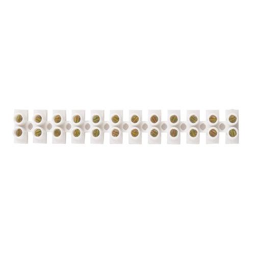 Regleta de conexiones de 12 polos hasta 25 mm² blanca