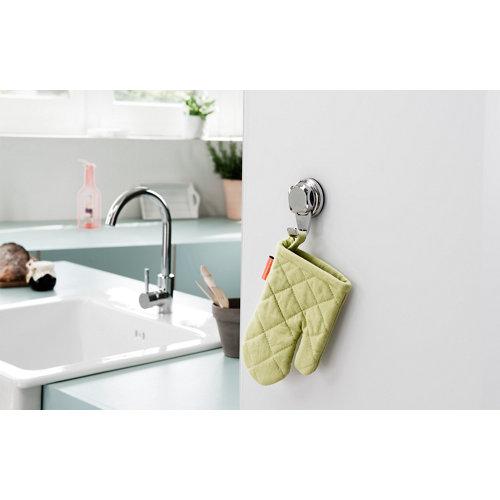 Percha de baño best lock gris / plata brillante