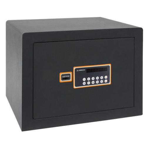Caja fuerte de sobreponer y atornillar arregui 180040 38.5x26x30 cm