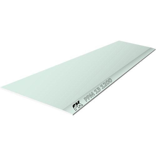 Placa cartón/yeso laminado verde 120x260x1,3 cm