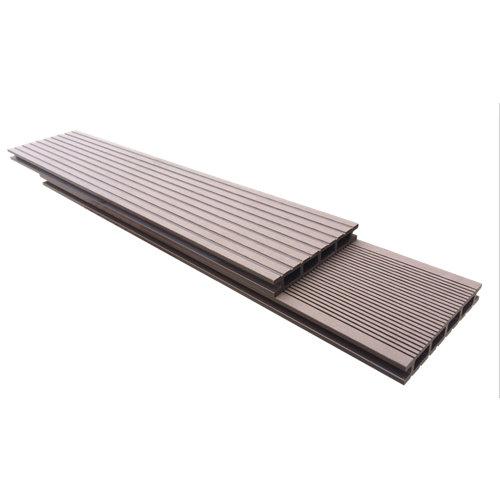 Suelo de composite para exterior naterial 220x14,5 cm choco