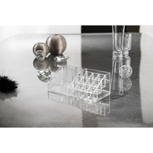 Organizador maquillaje transparente 12.7x8x22.3 cm