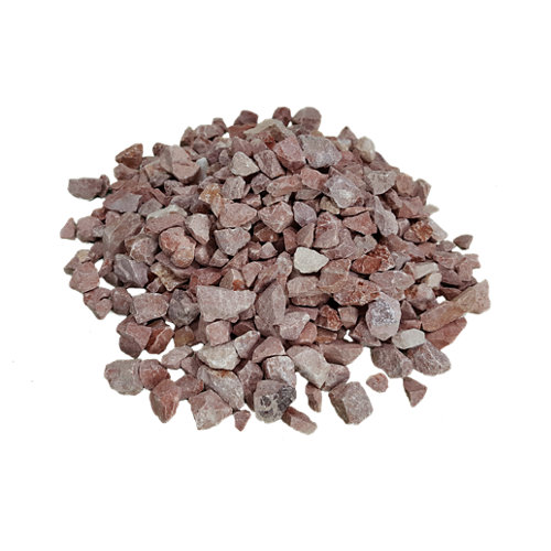 Saco de mármol rojo 1000kg 9 y 12 mm