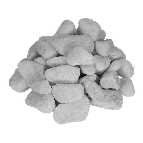 Saco de piedra calcárea rodada blanco 1000kg 25 y 40 mm