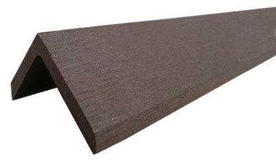 Rodapié de composite marrón de 4.8x4 cm