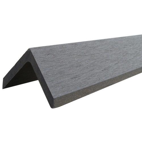 Perfil angular de composite gris / plata de 4.8x4 cm