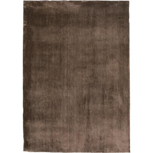 Alfombra marrón poliamida touch 71351 080 115 x 110cm
