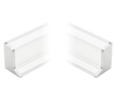 Tapa de copete superior DELINIA para cocina color blanco