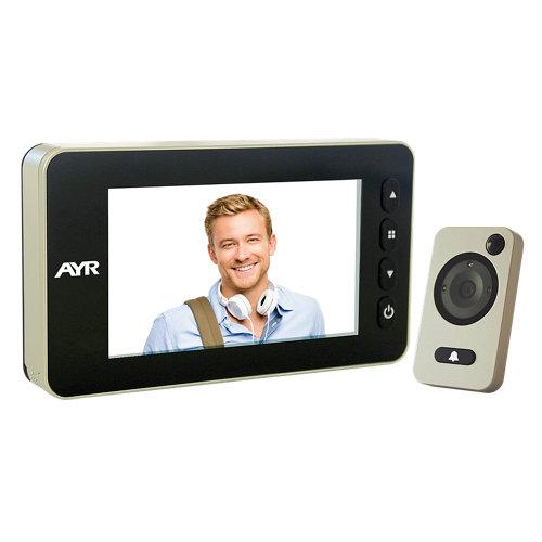 Mirilla digital mod755 pantalla lcd dorado con grabación, detector de presencia