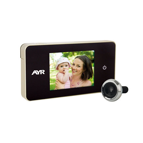 Mirilla digital mod 756 con pantalla cromado brillo