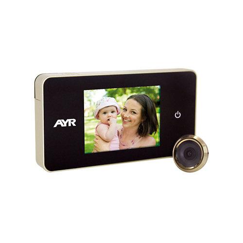 Mirilla digital mod 756 con pantalla latonado pulido