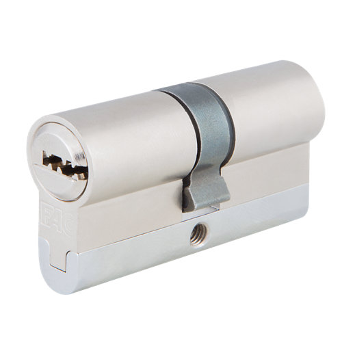 Cilindro perfil europeo (pera) fac 23257 cromado de 40 + 40 mm