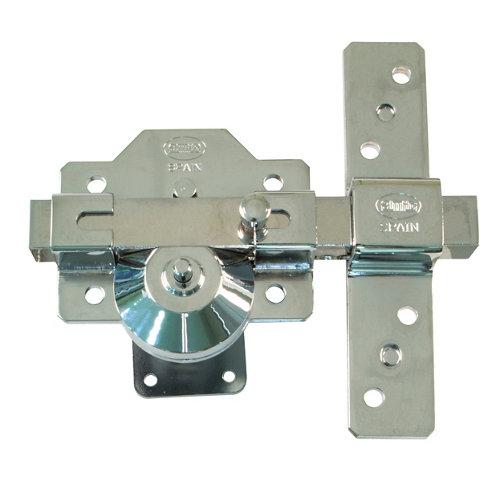 Cerrojo de seguridad botón/llave de 32 mm ancho cromado