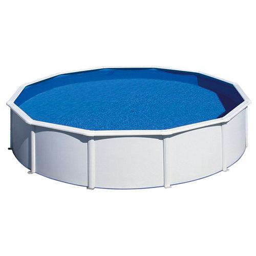 Piscina desmontable redonda gre ø 550x120 cm liso blanco