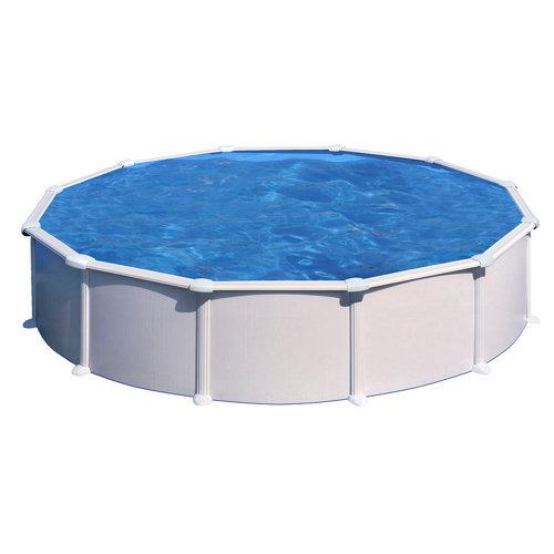 Piscina desmontable redonda gre ø 550x132 cm liso blanco