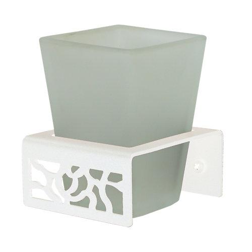 Vaso de baño art deco blanco mate