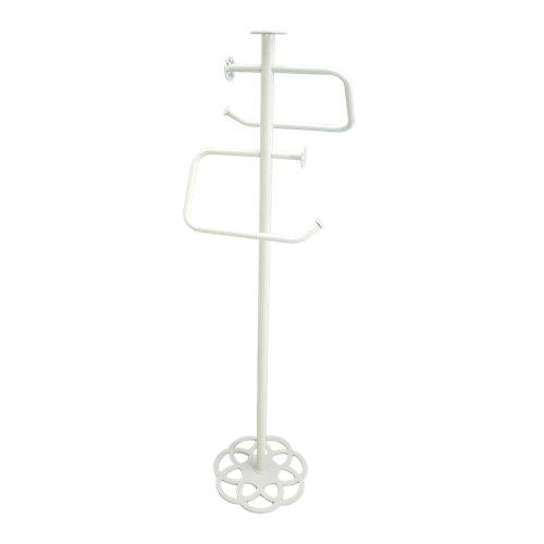 Toallero de pie mandala blanco epoxi 21x cm