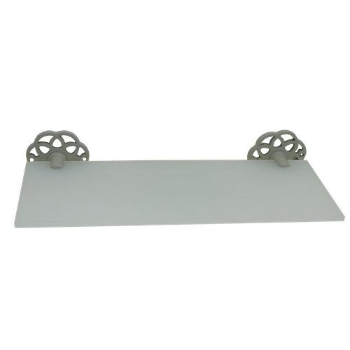 Bandeja ducha cesto para interior de ducha gris / plata 30x6.5x13.4 cm
