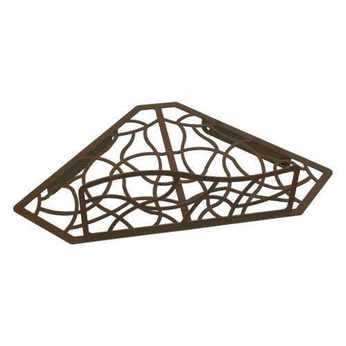 Rinconera ducha cesto para interior de ducha marrón 31x10.5x19 cm