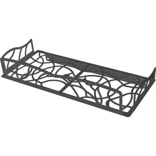 Bandeja ducha cesto para interior de ducha negro 31x5.5x13.5 cm