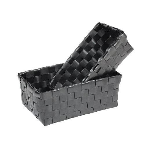 Cesta ordenación negro 25x12 cm