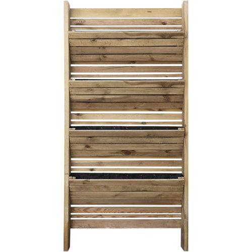 Huerto urbano vertical eden de madera fsc 180x90x14cm