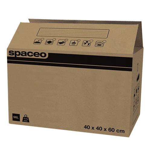 Caja de mudanza de 96 l de 40x60x40 cm y carga máx. 15 kg