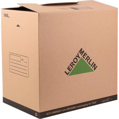 Caja de mudanza de 144 l de 60x40x60 cm y carga máx. 40 kg
