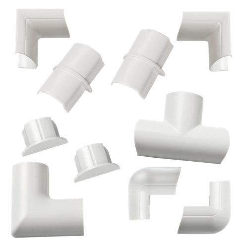 Kit de accesorios de canaleta d-line 20x10 blanco