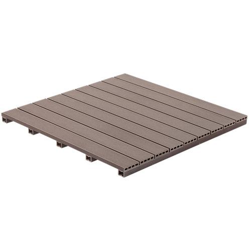 Baldosa de exterior de composite marrón 90x90 cm y 50 mm