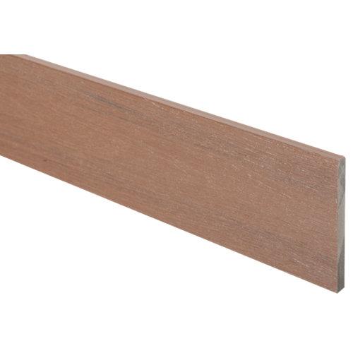 Perfil de composite marrón de 14.2x1.2 cm