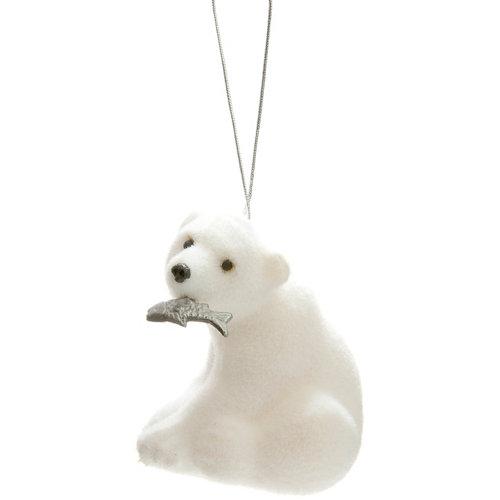 Adorno colgante oso polar 8 cm