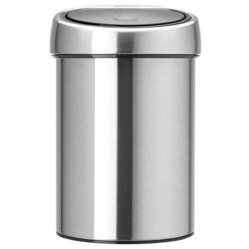 Papelera baño touch bin gris 3l