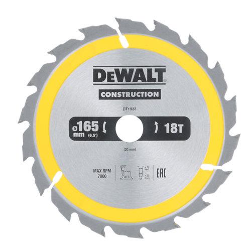 Hoja de sierra para madera dewalt dt1933-qz de 20 mm