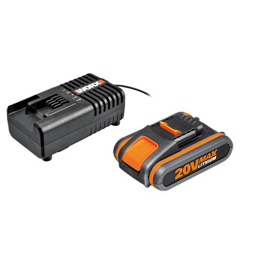 Pack de batería 20v y cargador 1h worx