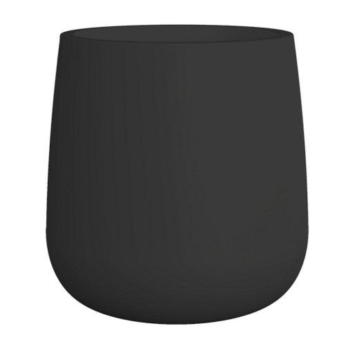 Maceta de polietileno de alta densidad camelia negro 39x39 cm