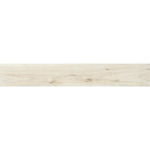 Baldosa porcelánica de 15x90 cm en color blanco