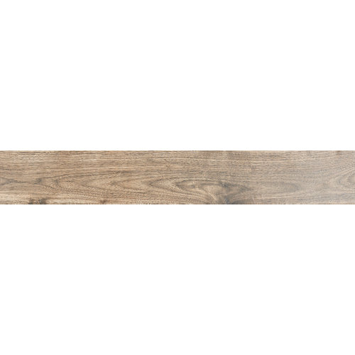 Baldosa porcelánica de 15x90 cm en color marrón