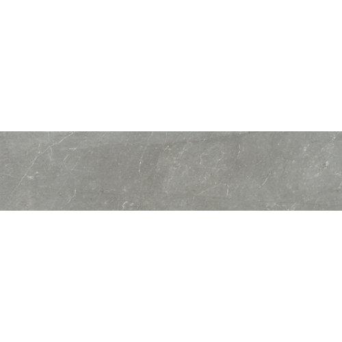 Rodapié serie bellagio 8x45 cm gris brillo